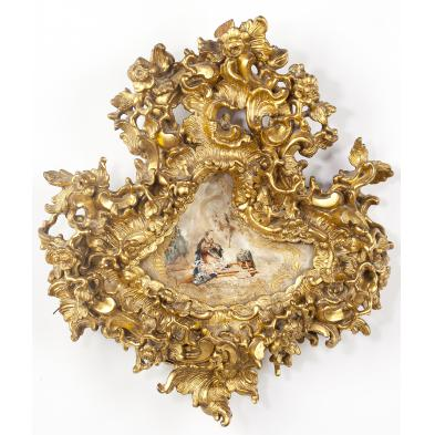 italian-painted-shell-within-rococo-gilt-frame