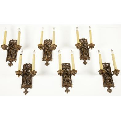 set-of-six-gothic-style-wall-sconces
