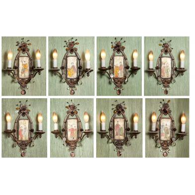 set-of-eight-double-arm-wall-sconces