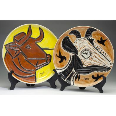two-ceramic-animal-plates-after-pablo-picasso