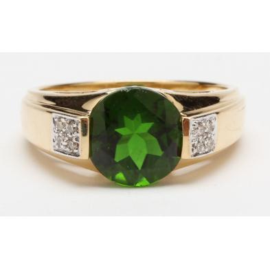 14kt-chrome-diopside-and-diamond-ring