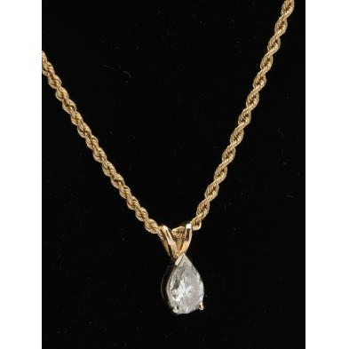 14kt-gold-chain-necklace-and-diamond-pendant