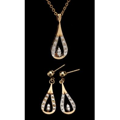 diamond-necklace-and-earrings