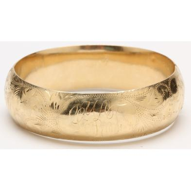 14kt-yellow-gold-engraved-bracelet