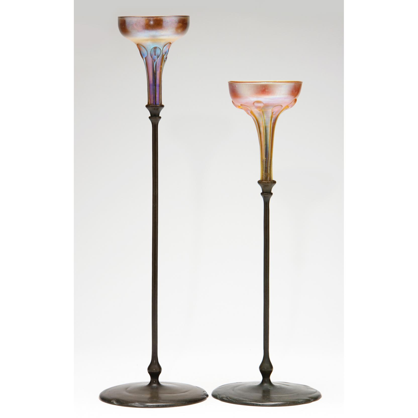 two-tiffany-studios-bronze-candlesticks