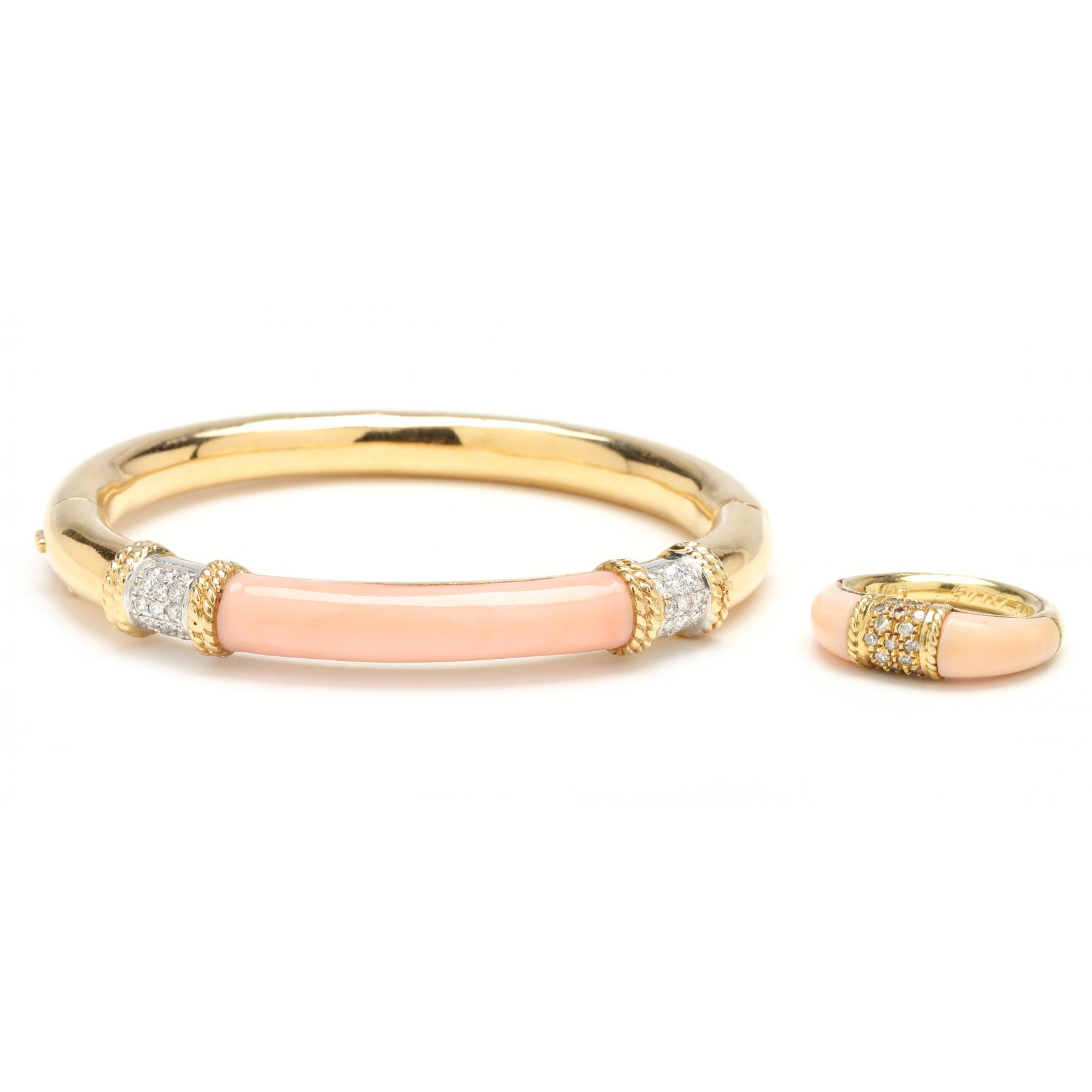 18kt-diamond-and-coral-bracelet-and-ring