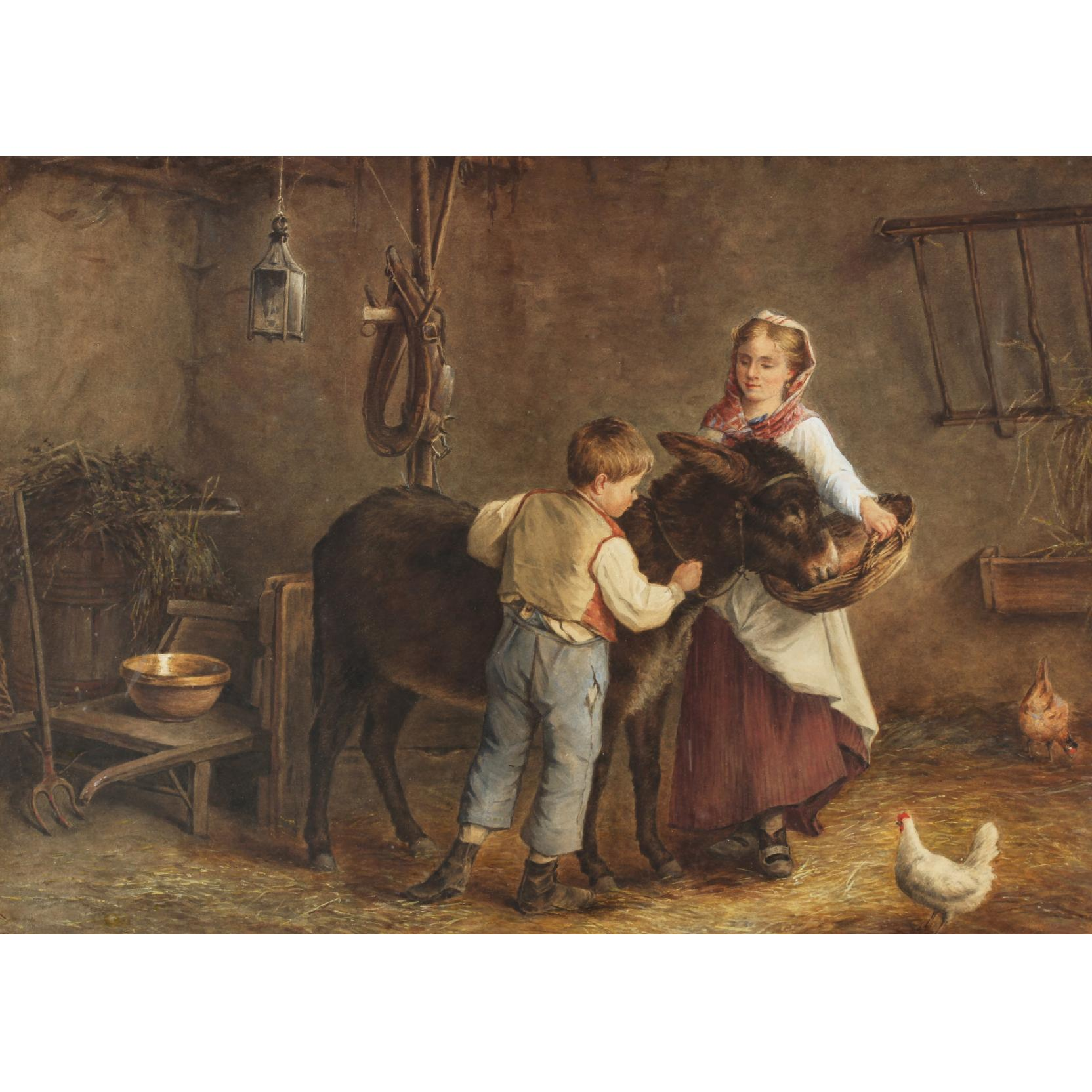 philippe-frana-ois-sauvage-french-19th-century-feeding-time