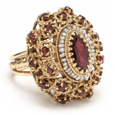 14kt-garnet-and-pearl-ring