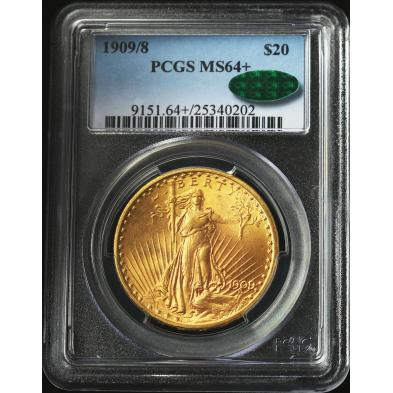 1909-8-20-st-gaudens-gold-double-eagle-pcgs-ms64-cac