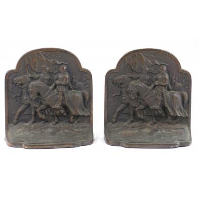pair-of-cast-bronze-crusader-bookends