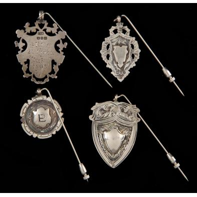 four-english-silver-stick-pins