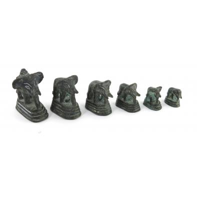 set-of-six-graduated-elephant-form-opium-weights