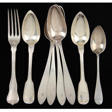 group-of-continental-silver-silverplate-flatware