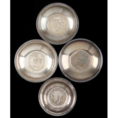 four-danish-silver-coin-dishes