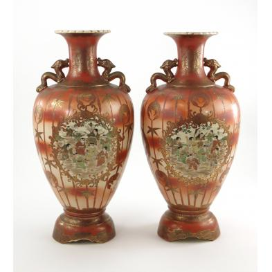 matched-pair-of-japanese-satsuma-vases