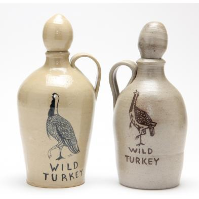 two-wild-turkey-jugs-r-emmit-albright
