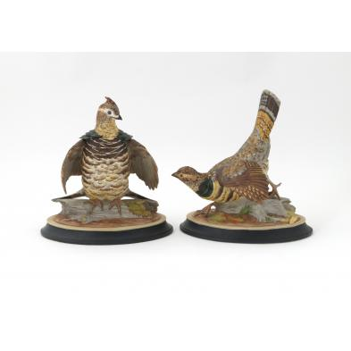 boehm-porcelain-pair-of-ruffed-grouse
