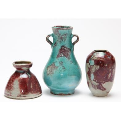 three-pieces-of-jugtown-chinese-blue-glazed-pottery