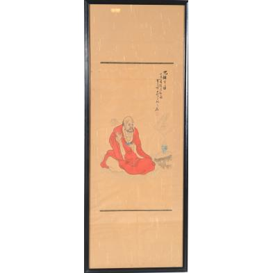 japanese-painting-of-a-buddhist-monk