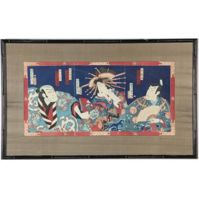 japanese-edo-period-actor-woodblock-print-triptych