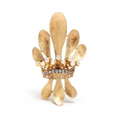 14kt-gold-pearl-and-diamond-brooch