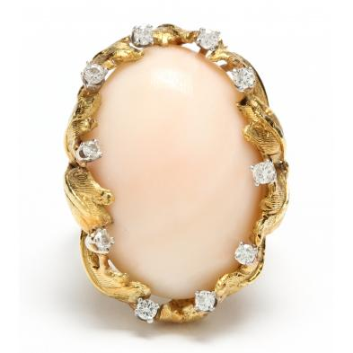 18kt-coral-and-diamond-ring