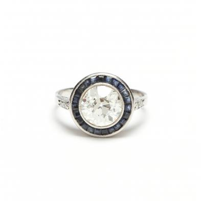platinum-diamond-and-sapphire-ring