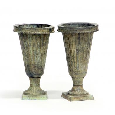 pair-of-bronze-tone-garden-urns