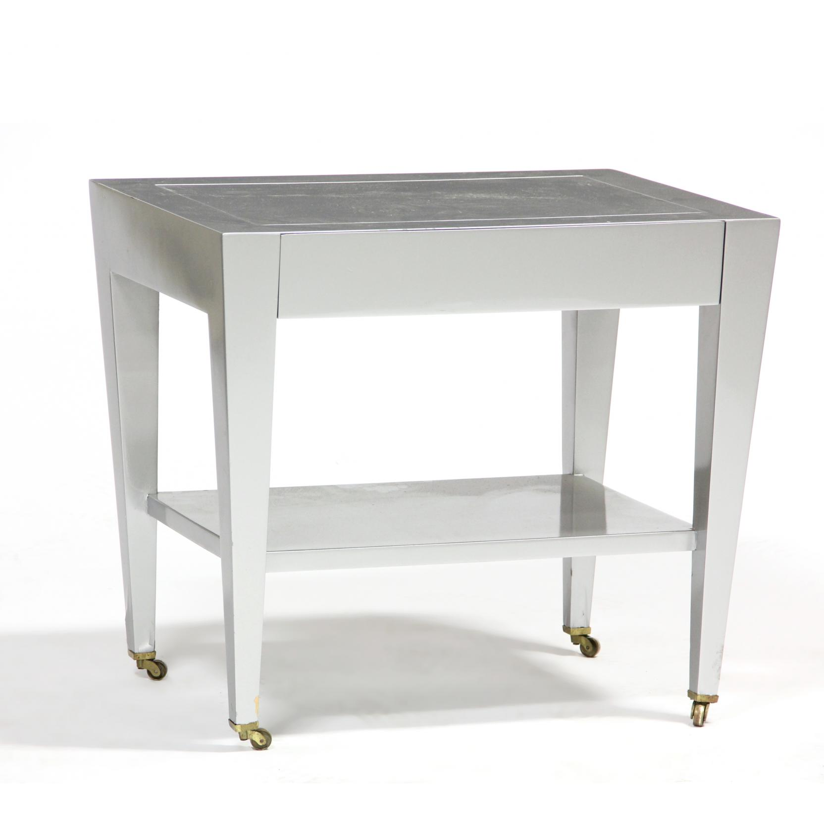 donghia-silver-lacquered-modernist-side-table