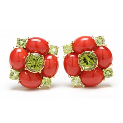 pair-of-14kt-coral-and-peridot-ear-clips-maz