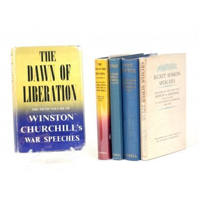 five-first-edition-volumes-of-winston-churchill-s-war-speeches