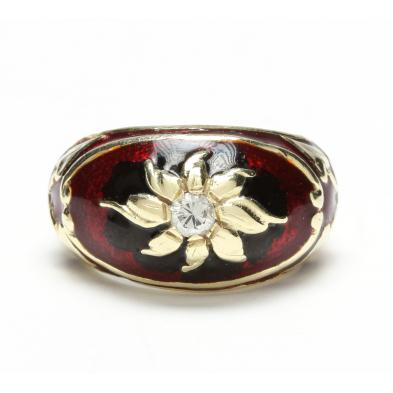 vintage-14kt-enamel-and-diamond-ring