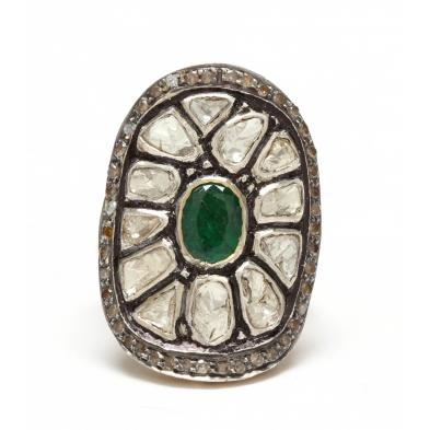 sterling-and-18kt-emerald-and-diamond-ring