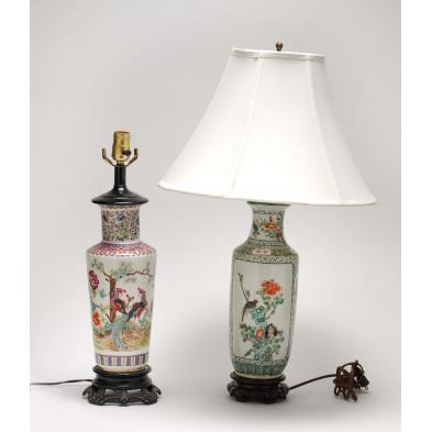 two-chinese-jars-converted-to-table-lamps