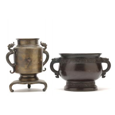 asian-bronze-bowl-and-urn
