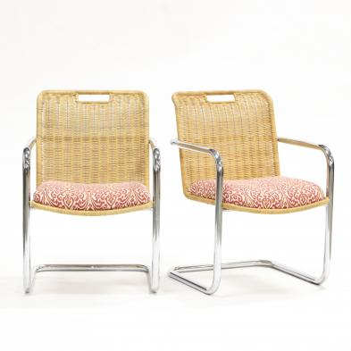 pair-of-mid-century-rattan-and-chrome-chairs