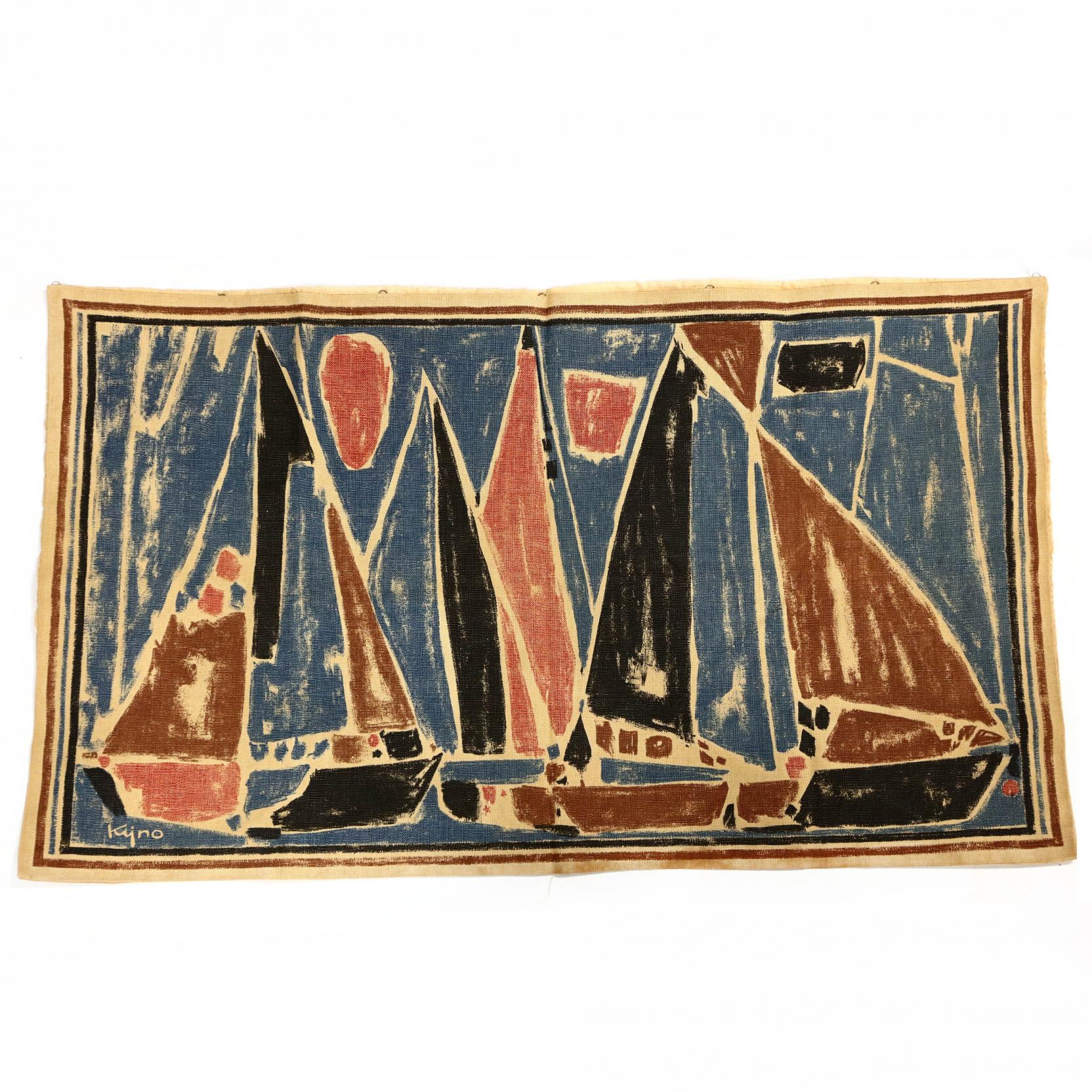 french-wall-hanging-by-braun-cie-i-les-voiles-i-by-ladislas-kijno-1921-2012