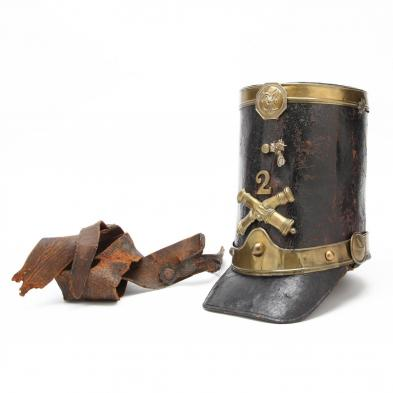 antebellum-american-militia-artillery-shako-with-owner-s-name