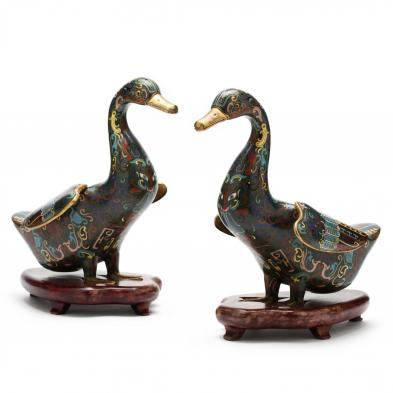 pair-of-chinese-cloisonne-ducks