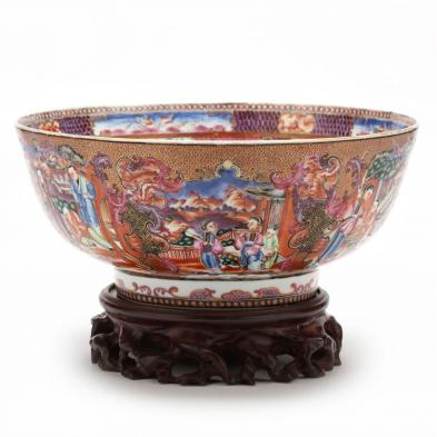 chinese-export-mandarin-rose-punch-bowl