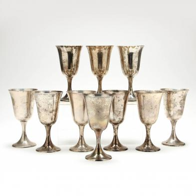 set-of-10-gorham-sterling-silver-goblets