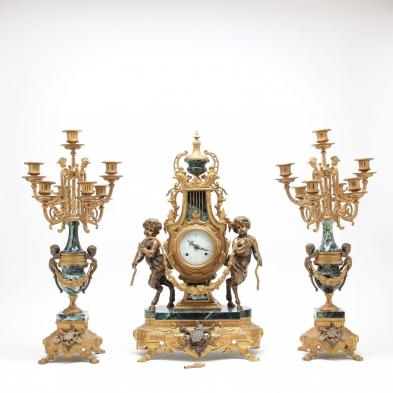 italian-three-piece-clock-garniture-set