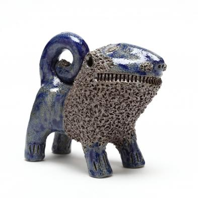 nc-folk-pottery-billy-ray-hussey-lion