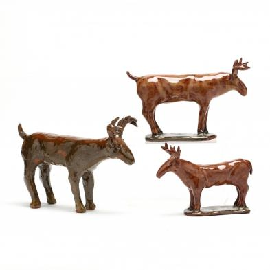 nc-folk-pottery-charles-moore-stags