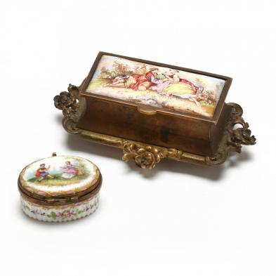 two-antique-continental-porcelain-boxes