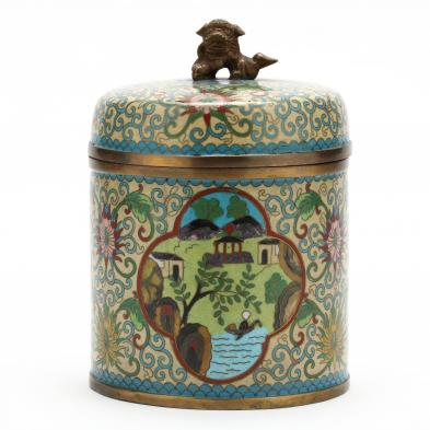 chinese-cloisonne-cigarette-box-with-foo-lion-finial