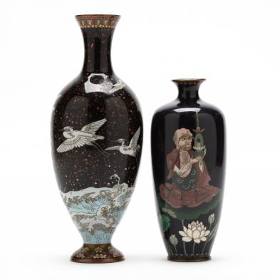 two-japanese-cloisonne-vases