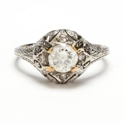antique-18kt-diamond-ring