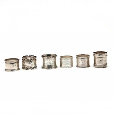 six-antique-silver-napkin-rings