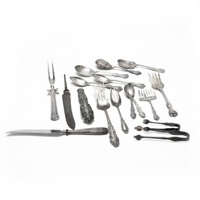 14-pieces-of-american-sterling-silver-silverplate